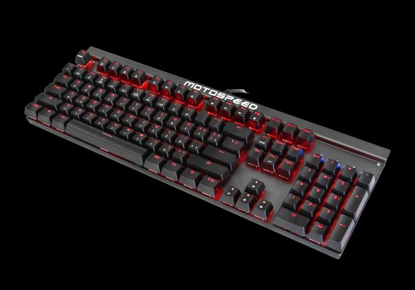 Клавіатура MOTOSPEED CK103jor в три чверті згори вниз