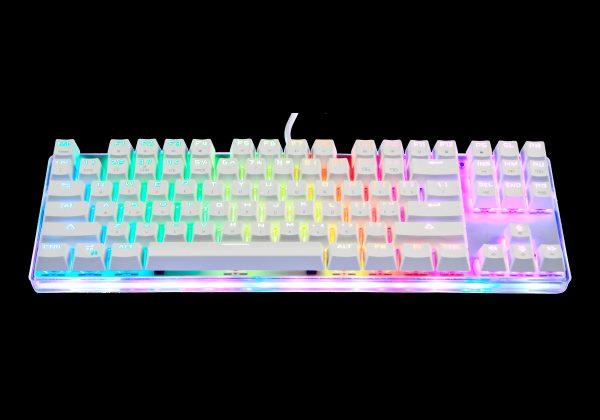 ігрова клавіатура MOTOSPEED K87S підсвіткою, що переливається