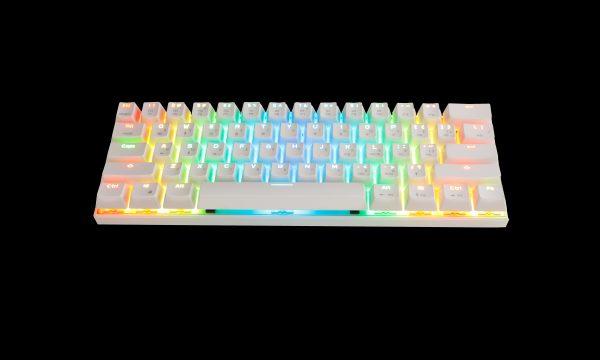 Біла клавіатура MOTOSPEED CK62 вигляд згори
