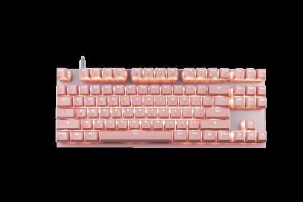 Рожева клавіатура Motospeed GK82